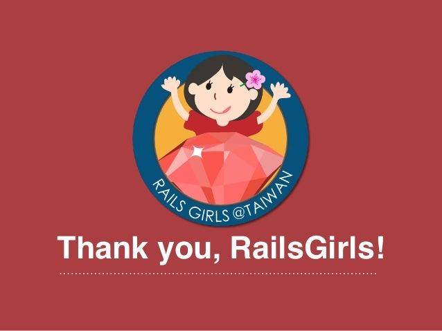 Thank you, RailsGirls!