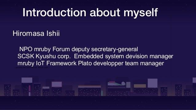 Chat with Matz about mruby in Rubykaigi2019 Slide 2