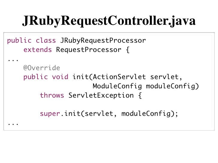 "JRubyRequestController#init()String path =    moduleConfig.getControllerConfig()                .getProperty(""scriptPath"")..."