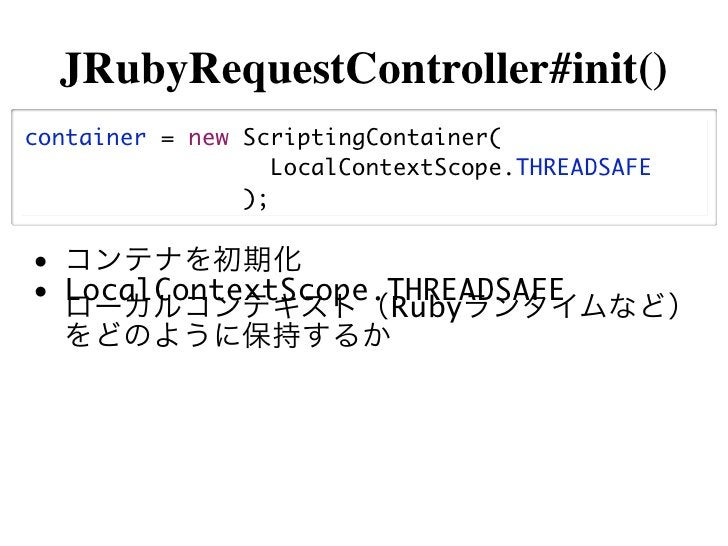 JRubyRequestController.java@Overrideprotected ActionForward process...(    HttpServletRequest request...) throws ...{    i...