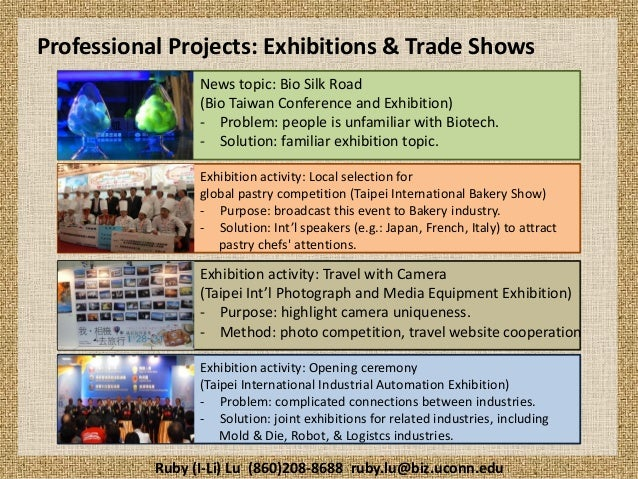 Professional Projects: Exhibitions & Trade Shows News topic: Bio Silk Road (Bio Taiwan Conference and Exhibition) - Proble...