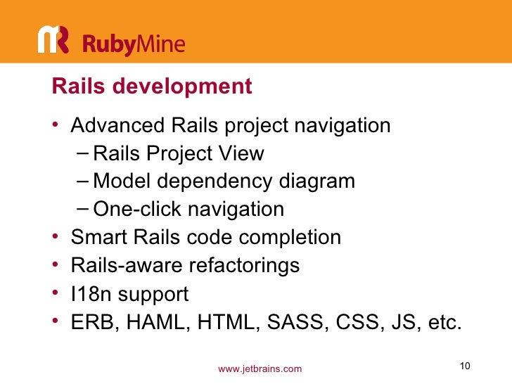 Productive Rails development with RubyMine