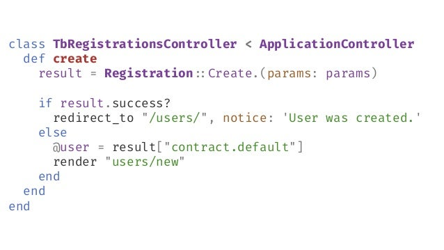 module Registration#:Contract class Create < Reform#:Form include Dry include Reform#:Form#:ActiveModel feature Coercion m...