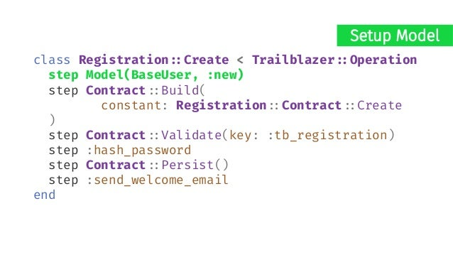 dry-validation module Registration#:Contract class Create < Reform#:Form property :email property :email_confirmation, vir...