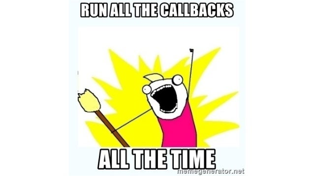 Tobi complaining about validations and callbacks You've seen: