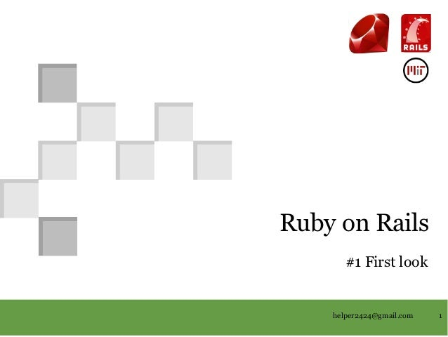 RubyonRails                                          #1Firstlook                                                   ...