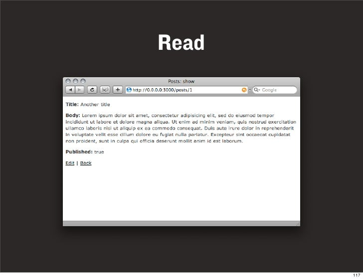 Read            117