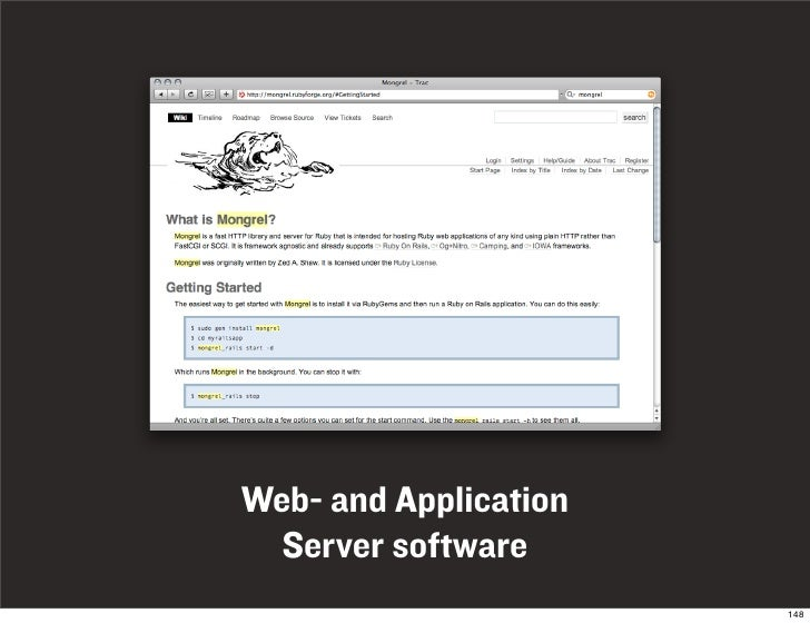 Web- and Application   Server software                        148