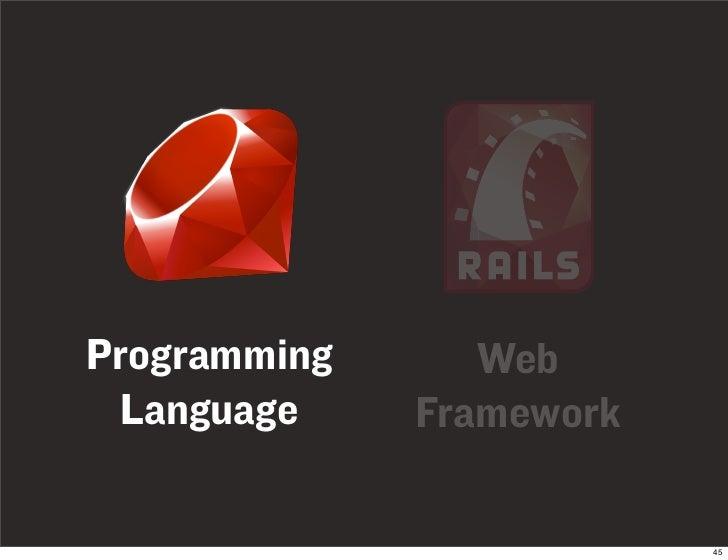 Programming      Web  Language     Framework                            45