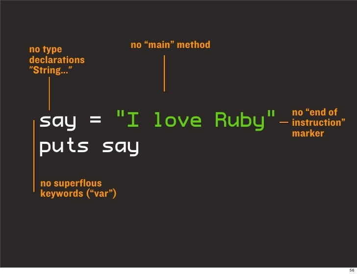 "no type              no ""main"" method declarations ""String...""                                           no ""end of   say ..."