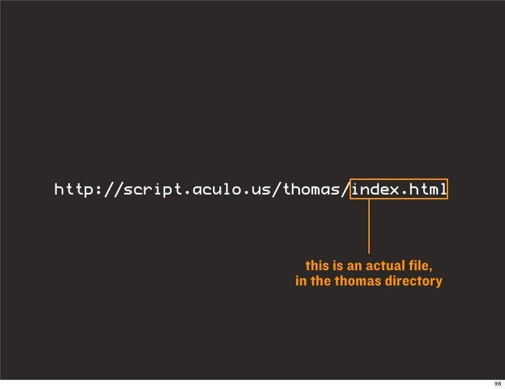 http://script.aculo.us/thomas/index.html                             this is an actual file,                         in th...