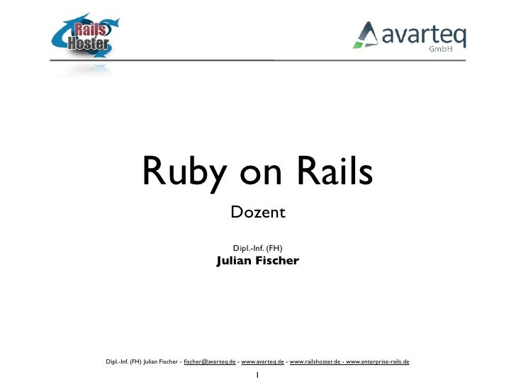 Ruby on Rails                                               Dozent                                                Dipl.-In...