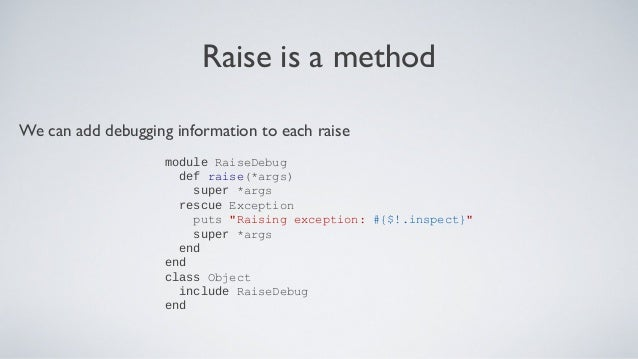 Ruby Amp Rails Error Handling