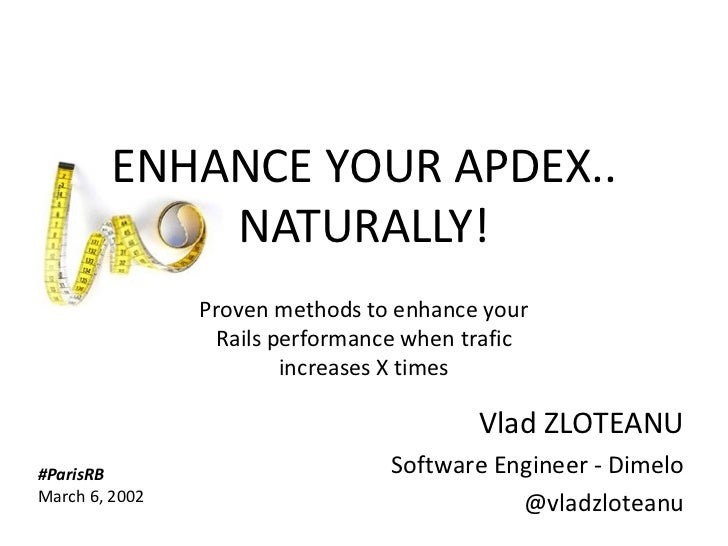 ENHANCE YOUR APDEX..                     NATURALLY!                      Proven methods to enhance your                   ...