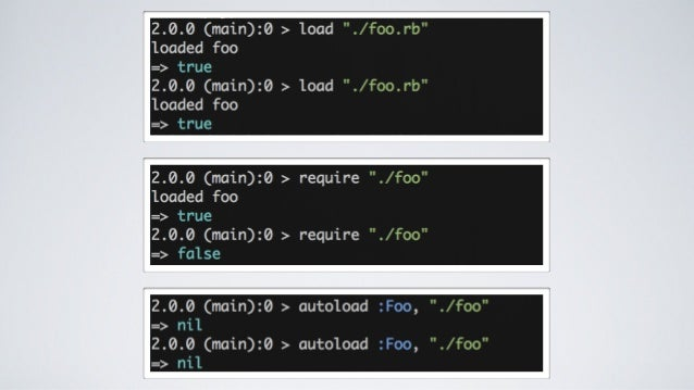 Ruby's require, autoload and load methods