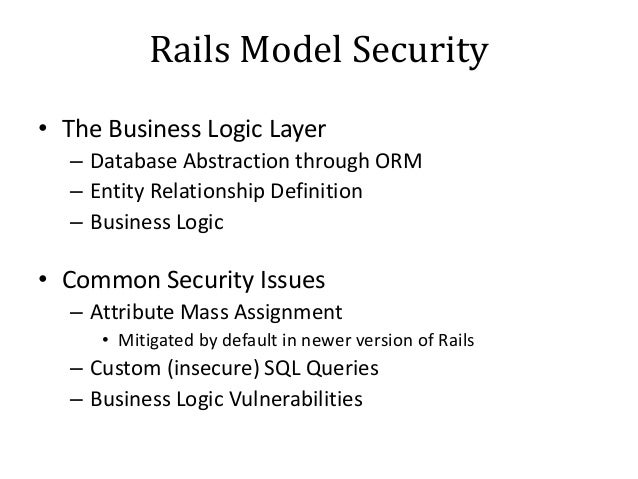 Ruby On Rails Penetration Testing