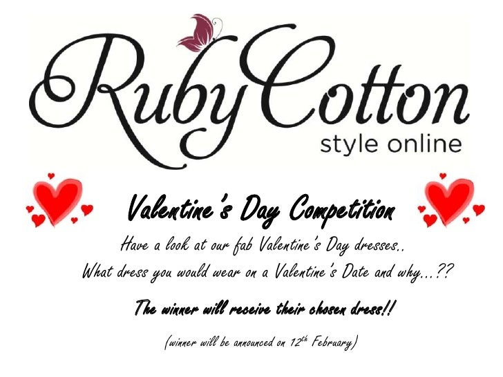 Valentine's Day Competition<br /> Have a look at our fab Valentine's Day dresses.. <br /> What dress you would wear on a V...