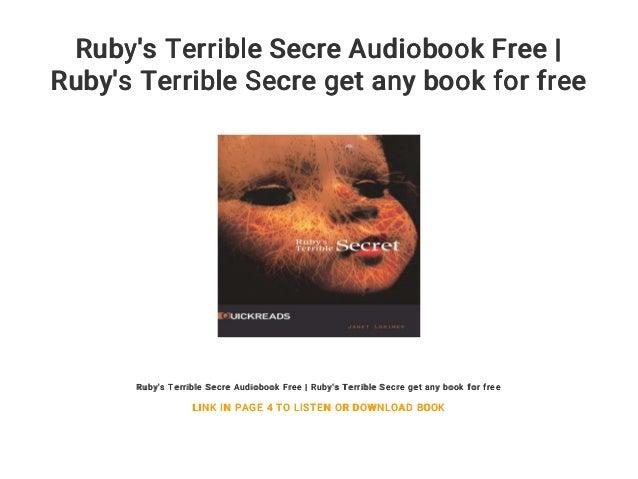 ruby s terrible secret lorimer janet