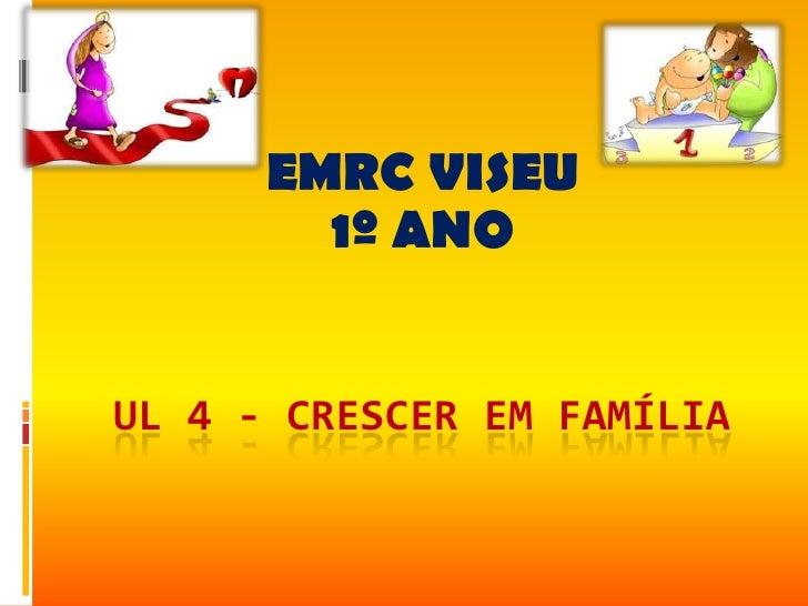 EMRC VISEU        1º ANOUL 4 - CRESCER EM FAMÍLIA