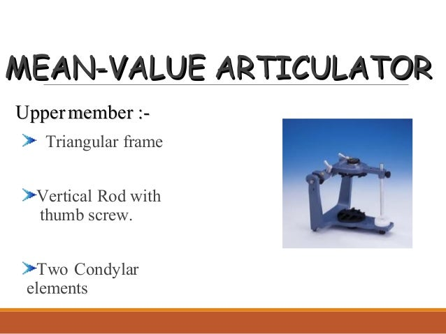 Introduction to articulators mean value articulator ccuart Images