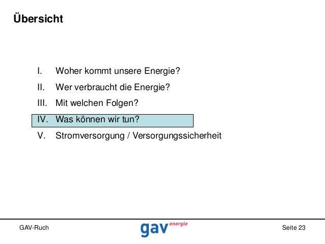 Übersicht  I.  Woher kommt unsere Energie?  II.  Wer verbraucht die Energie?  III. Mit welchen Folgen? IV. Was können wir ...