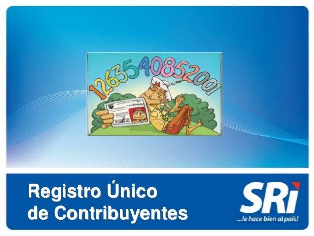Registro Únicode Contribuyentes