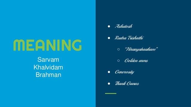 Rudram presentation by a High Schooler - Shragvi Balaji