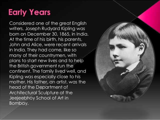 joseph rudyard kipling biography