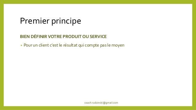 4 principes d'un entrepreneur à succes Slide 2