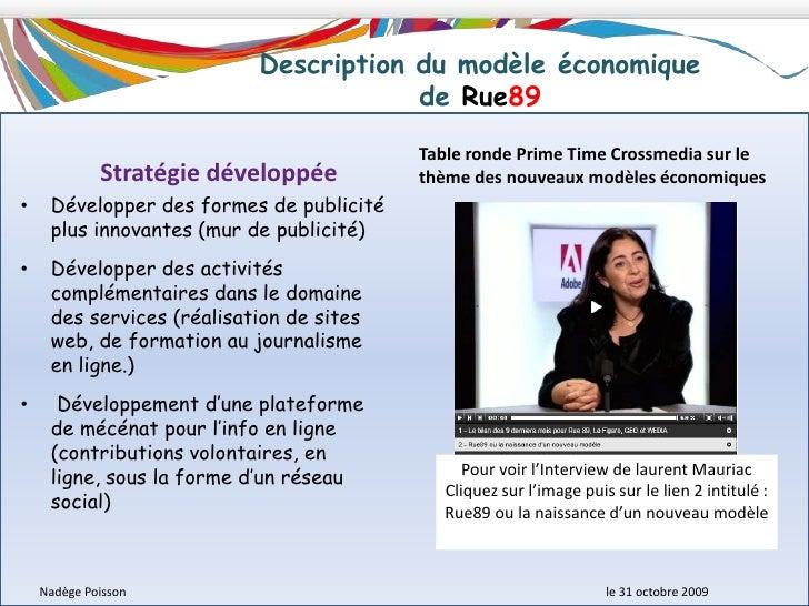 Structure du capital de Rue89<br />Interprétation des données statistiques :<br />La société Rue89 s'est considérablement ...