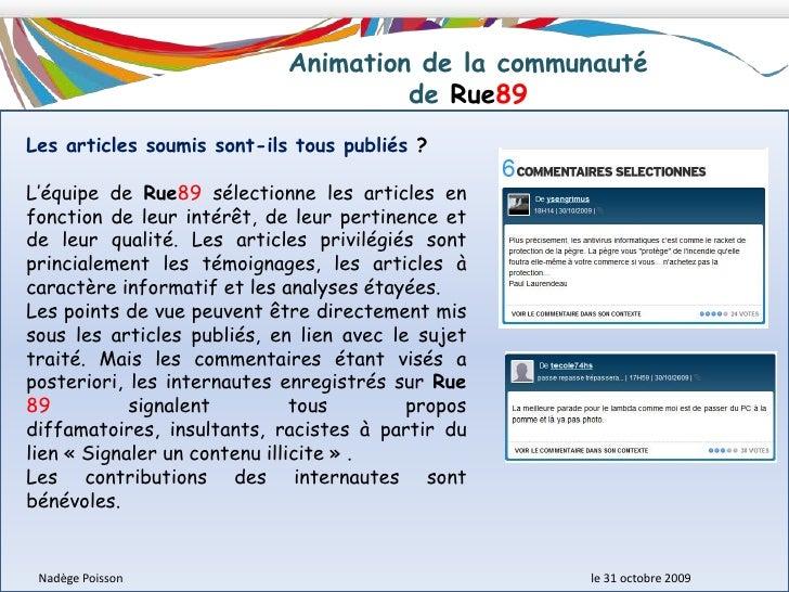 Description du modèle économique <br />de Rue89<br />Une stratégie de multiplication des sources de revenus <br />Si l'inf...