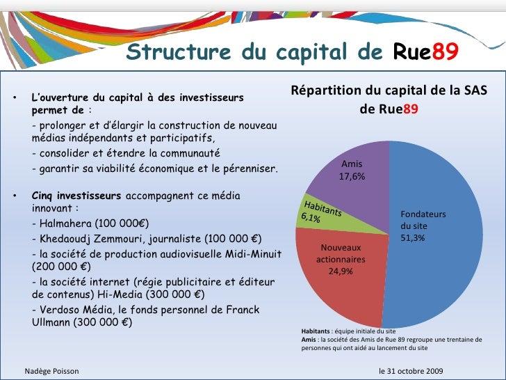 Le site RUE89 a ouvert le capital à des investisseurs pour développer le site et garantir son indépendance.