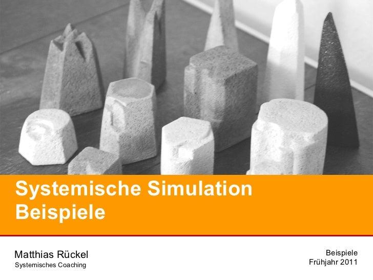 Systemische Simulation Beispiele