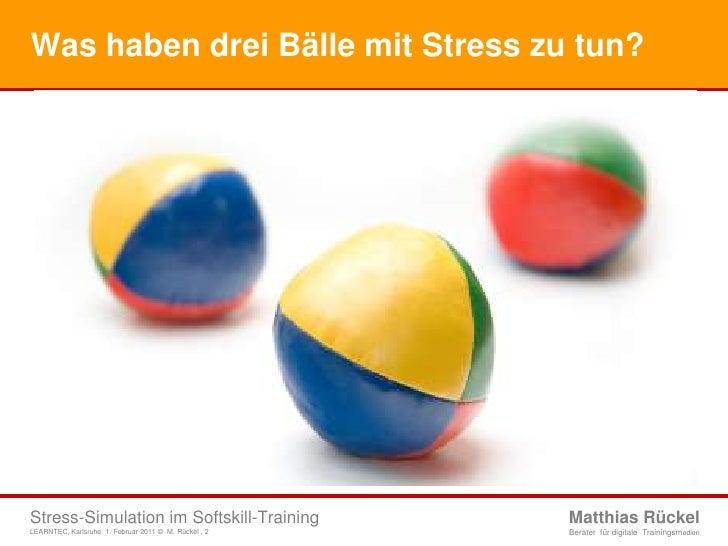Stress-Simulation im Softskill-Training Slide 2