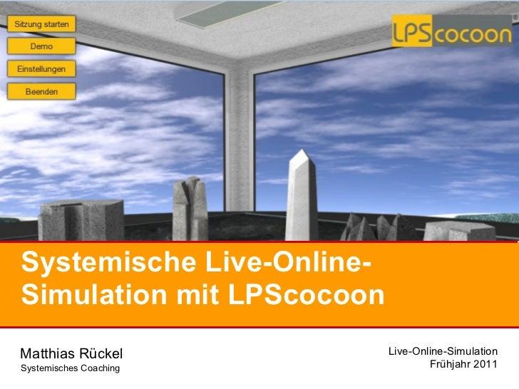 Systemische Live-Online-Simulation mit LPScocoon