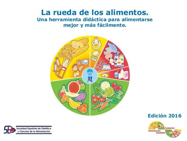 l Edición 2016 La rueda de los alimentos. Una herramienta didáctica para alimentarse mejor y más fácilmente.
