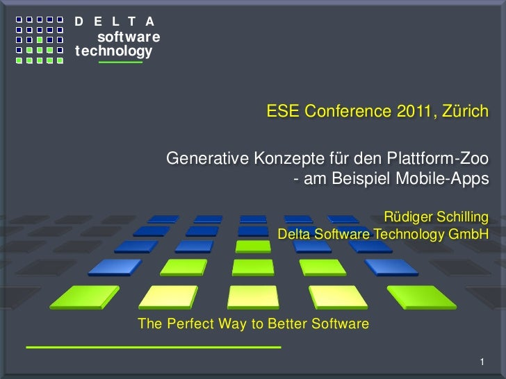 D E L T A                     software                  technologyThe G ener at o r C o m pany                            ...