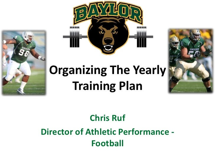 Organizing The YearlyTraining Plan<br />Chris Ruf<br />Director of Athletic Performance - Football<br />
