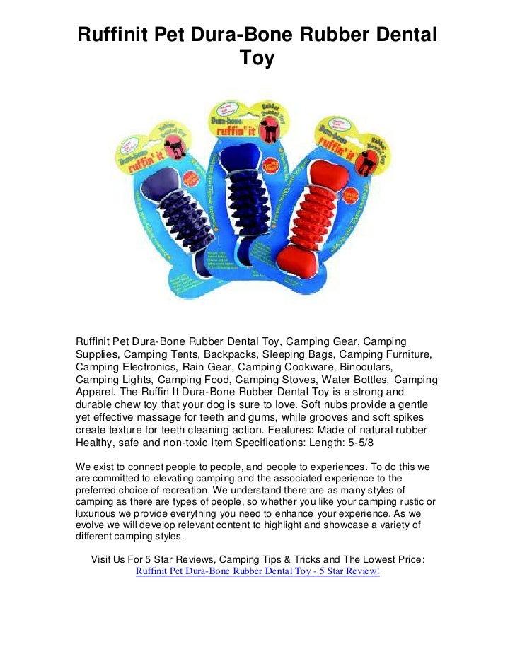 Ruffinit Pet Dura-Bone Rubber Dental                  Toy     Ruffinit Pet Dura-Bone Rubber Dental Toy, Camping Gear, Camp...