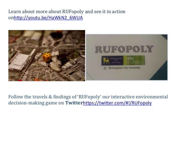 Learn about more about RUFopoly and see it in actiononhttp://youtu.be/HaWkN2_6WUAFollow the travels & findings of 'RUFopol...