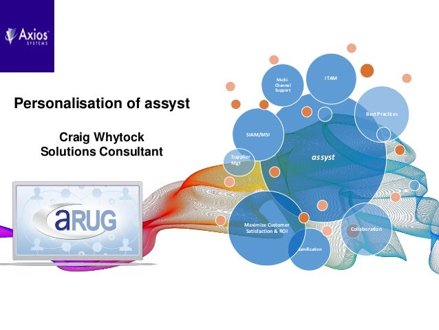 Axios Systems assyst RUG2017 - Personalisation of assyst v2 0