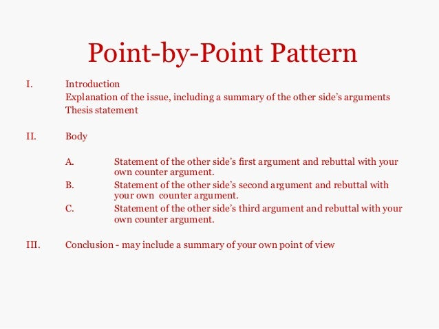 point by point pattern essay writer