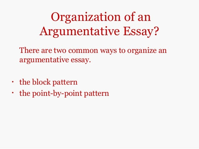 argumentative essays self study version  5 organization of anargumentative essay