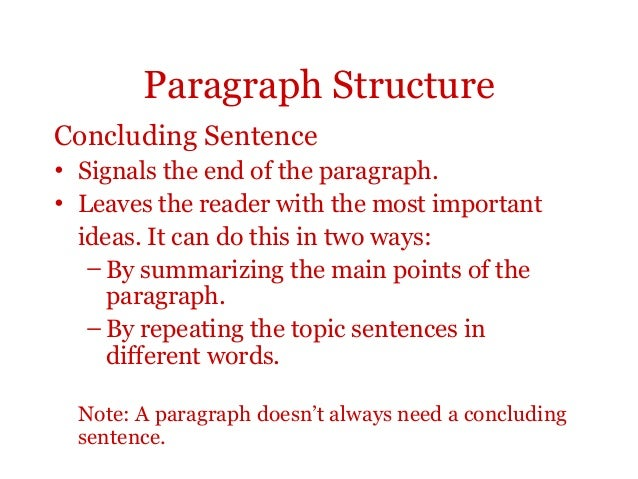 conclude paragraphs essay Writing a killer conclusion by shmoop shmoop loading for more help check out our essay lab guide: conclusion paragraph research paper - duration.