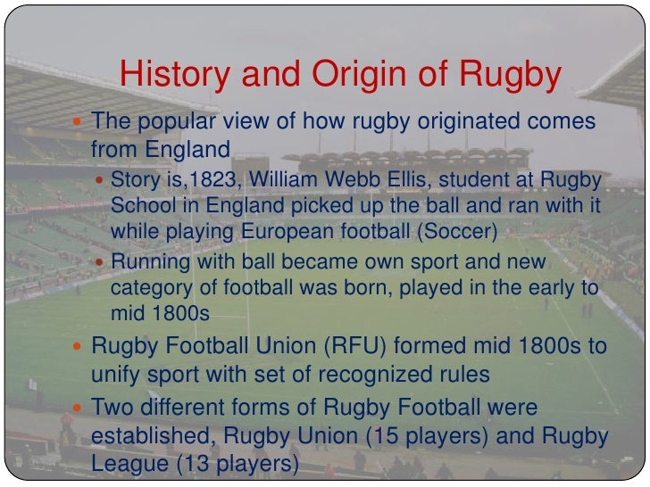 history of rugby Discover the history behind the one of australia's favoured sports, national  rugby league, a game beginning out of rebel over a century ago.