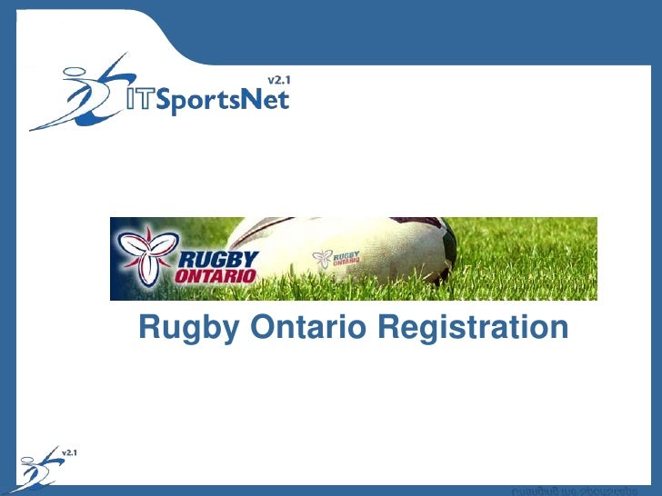 Rugby Ontario Registration<br />