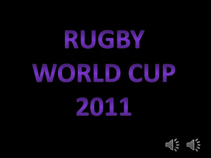 Rugby world cup 2011<br />