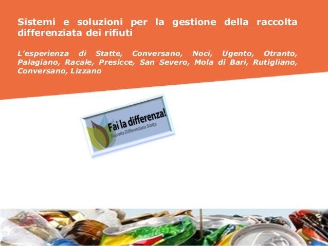 LandCity Revolution 2016 - Sistemi e soluzioni per la gestione della raccolta differenziata - Ruggero Palumbo e Giacomo Campanella (SIT)  Slide 2