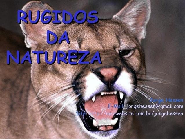 RUGIDOS   DANATUREZA                                   Jorge Hessen                  E-Mail: jorgehessen@gmail.com     Sit...