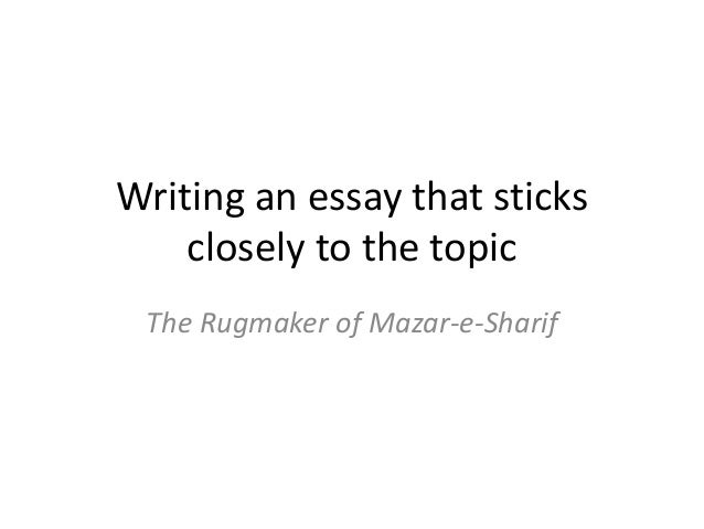 the rugmaker essay